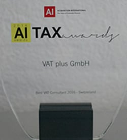 Taxaward 2016 VAT plus Switzerland